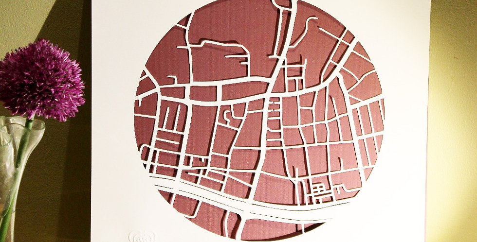 Smithfield papercut map