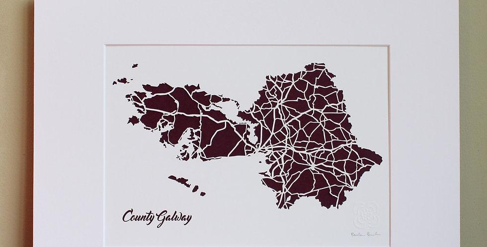 Galway papercut map