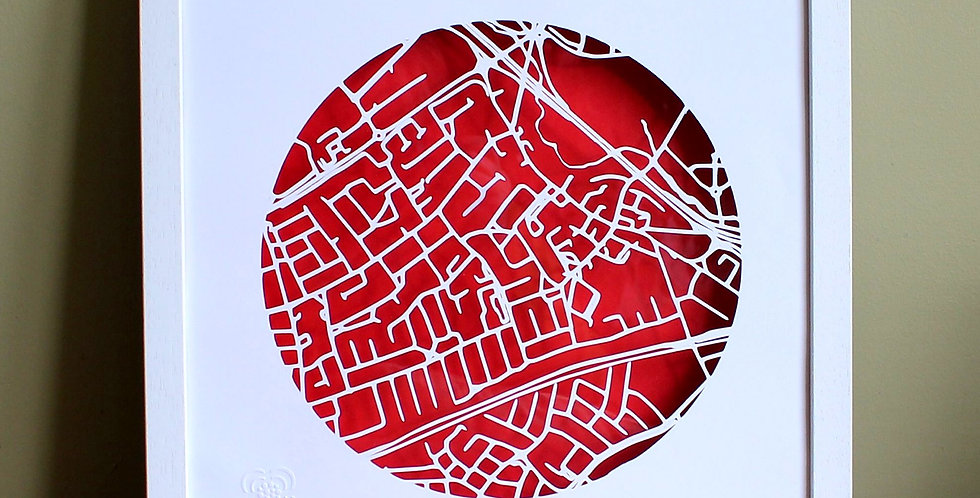 Blanchardstown Papercut map