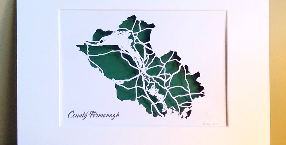 Co Fermanagh papercut map