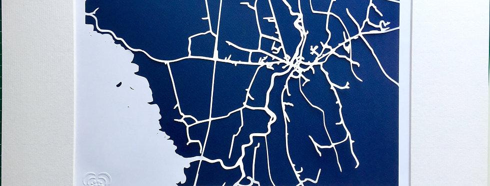 Foxford papercut map