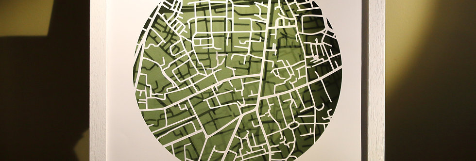 papercut map of Rathmines