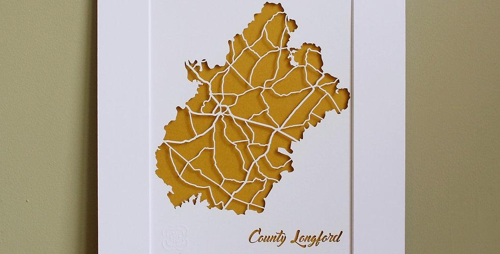 Longford papercut map