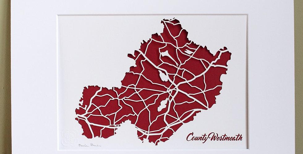 Westmeath papercut map