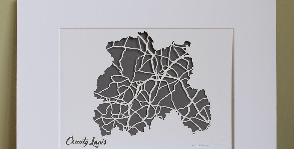 Laois papercut map