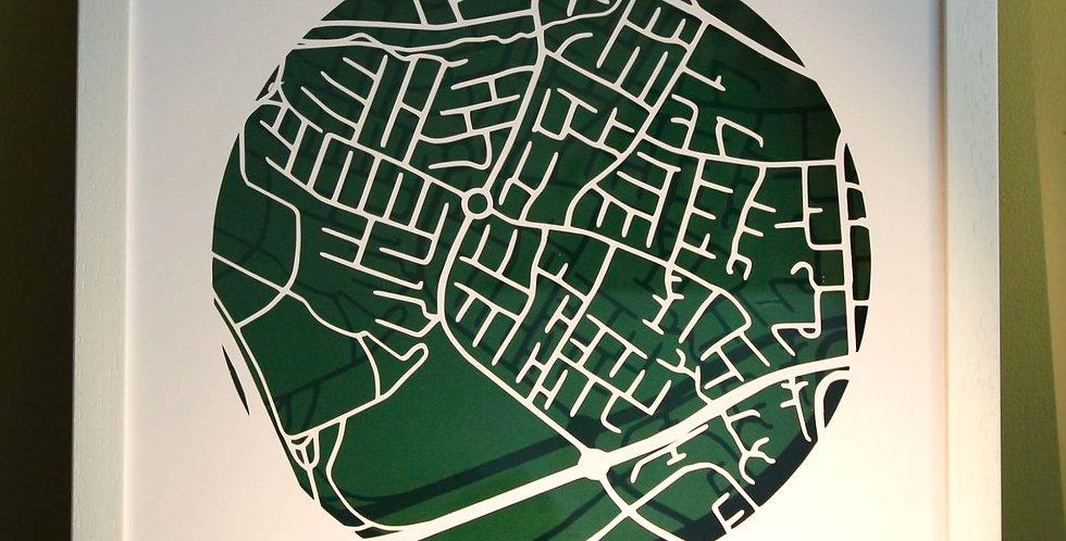 Orwell papercut map