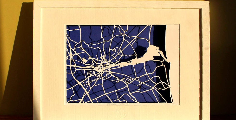 Drogheda, County Louth papercut