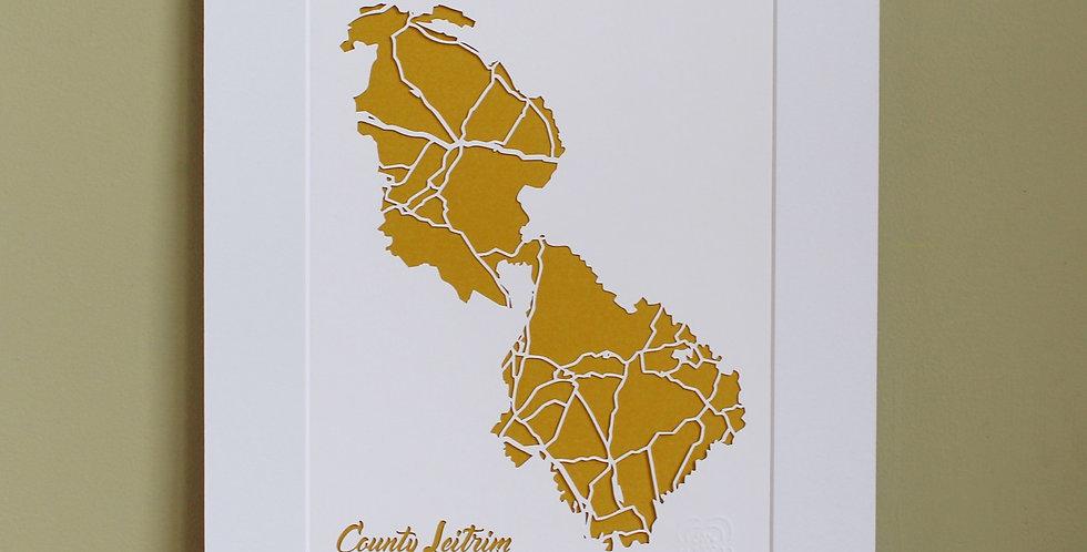 Leitrim papercut map