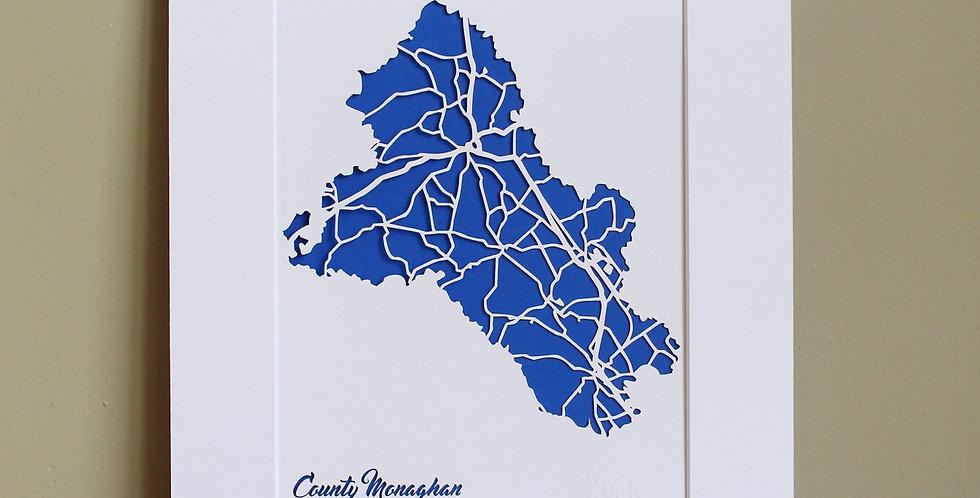 Monaghan papercut map