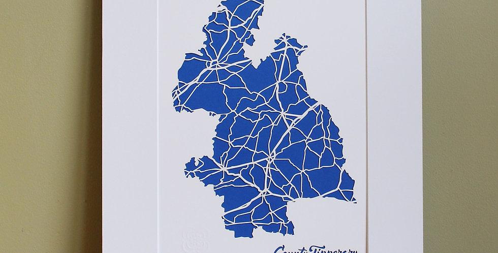 Tipperary papercut map