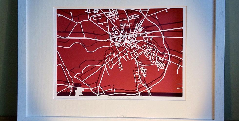 Tullamore papercut map