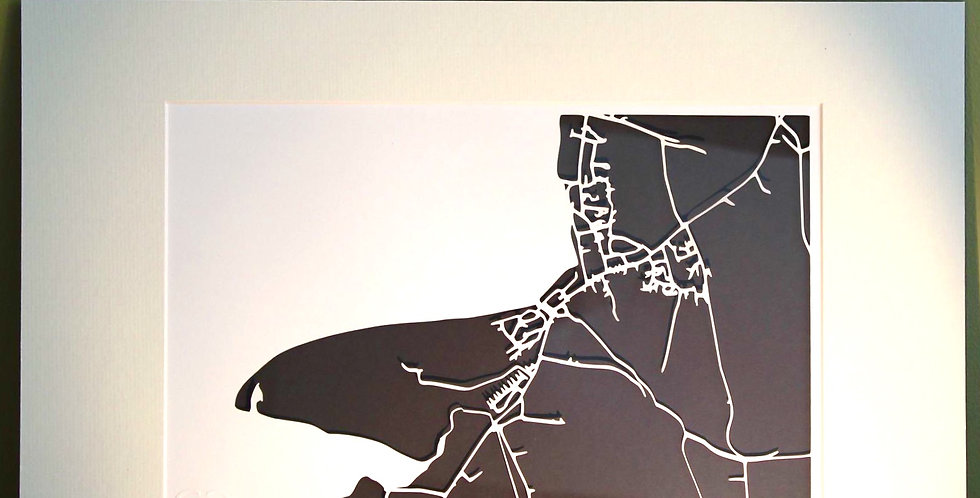 Enniscrone papercut map