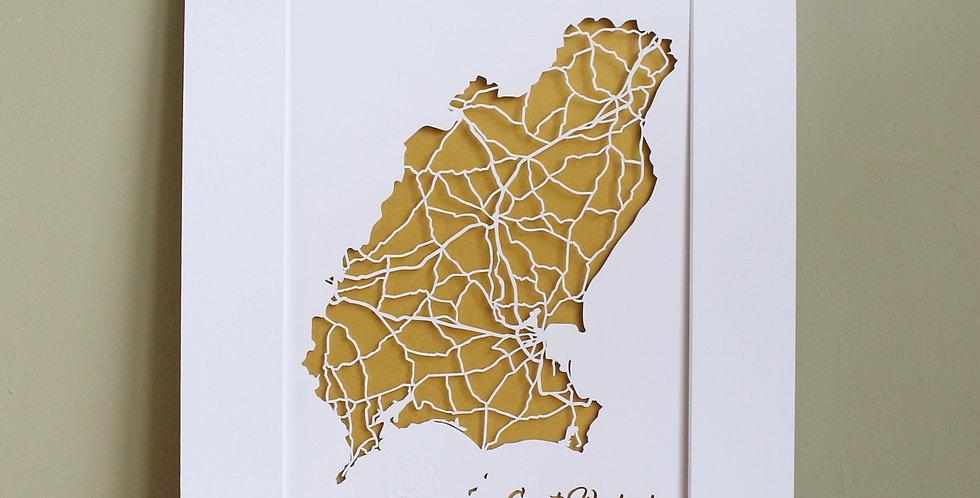 Wexford papercut map