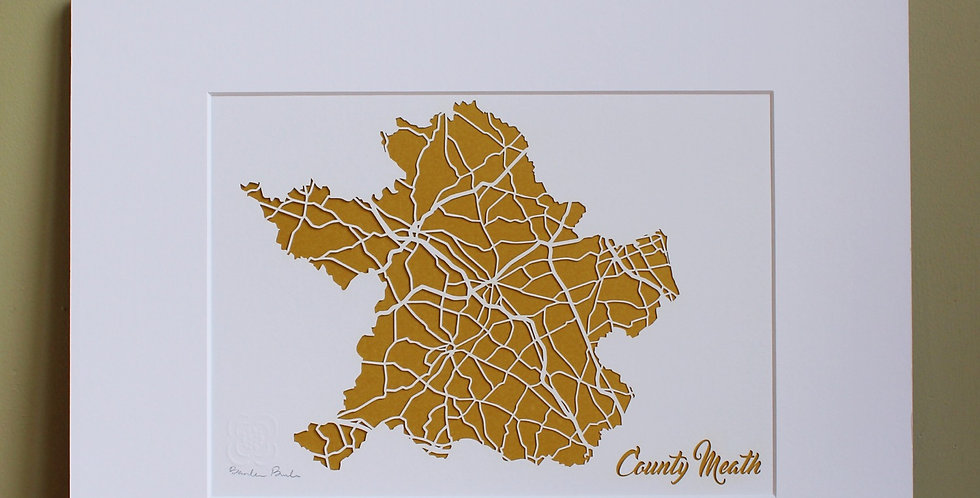 Meath papercut map