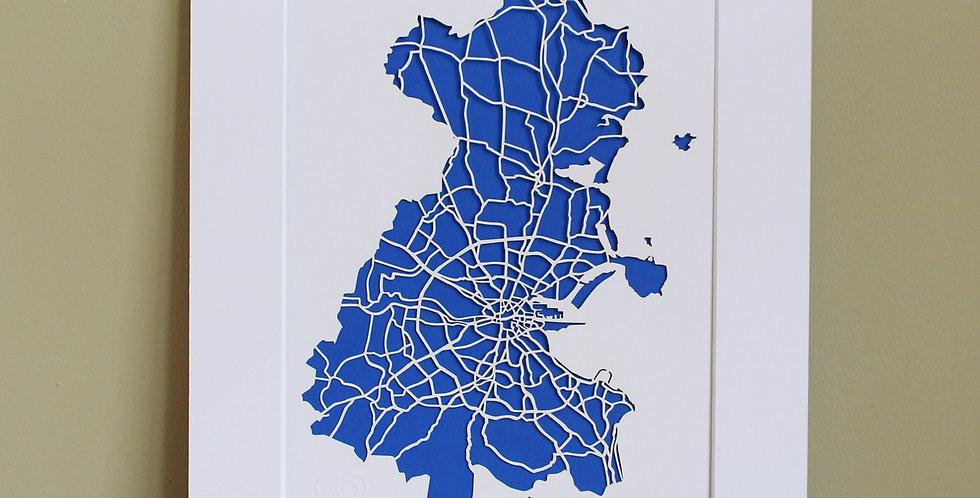 Dublin papercut map