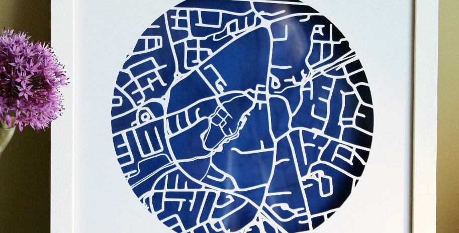 Clondalkin papercut map