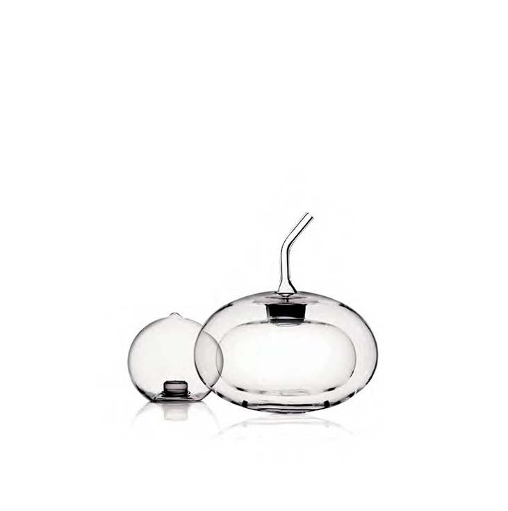 Double wall borosilicate glass sphere shaped cruet and salt shaker