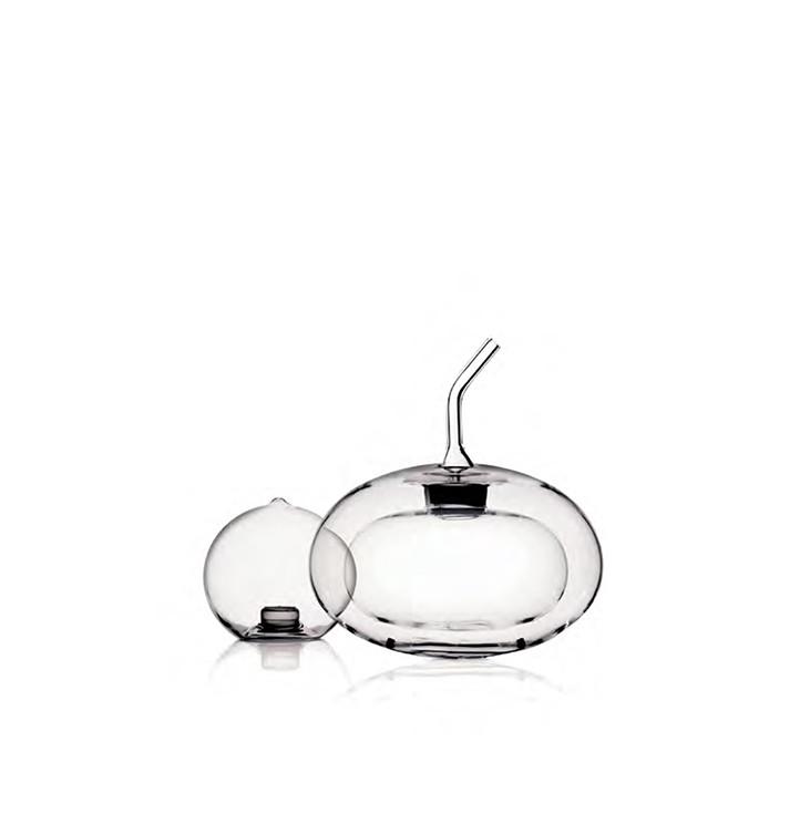Double wall borosilicate glass sphere shaped cruet and salt shaker