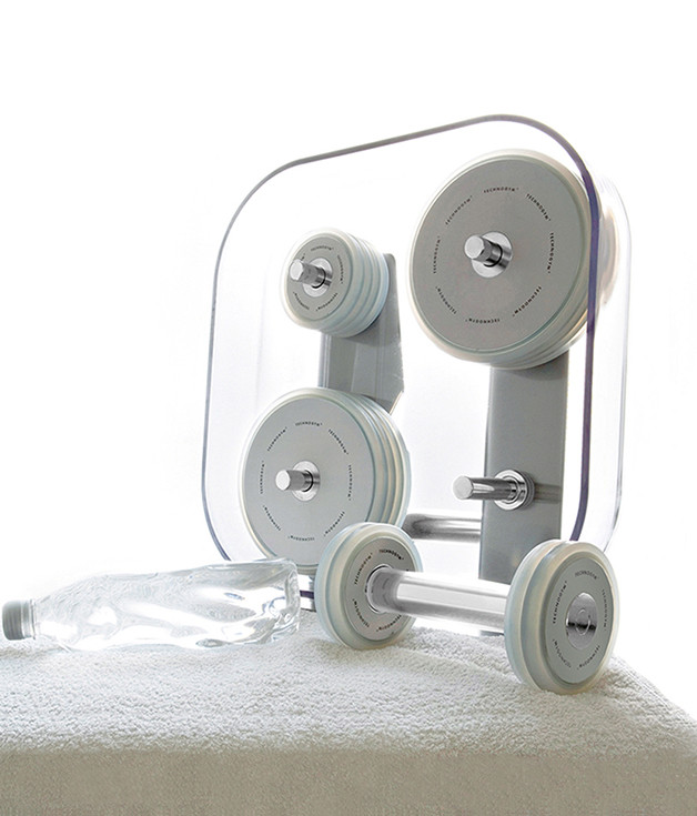 Stainless steel with PMMA coating fitness.set