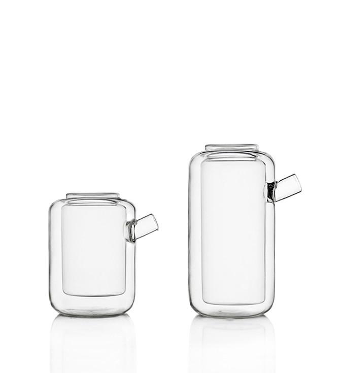 Thermic double wall borosilicate glass teapots