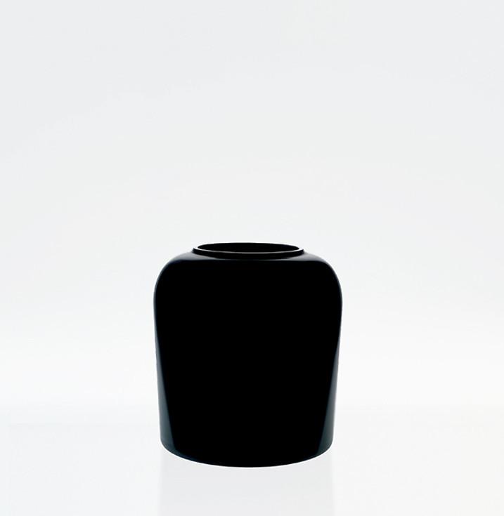 Black Murano glass vase