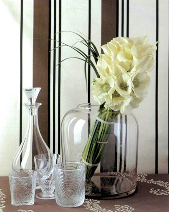 Transparent Murano glass vase