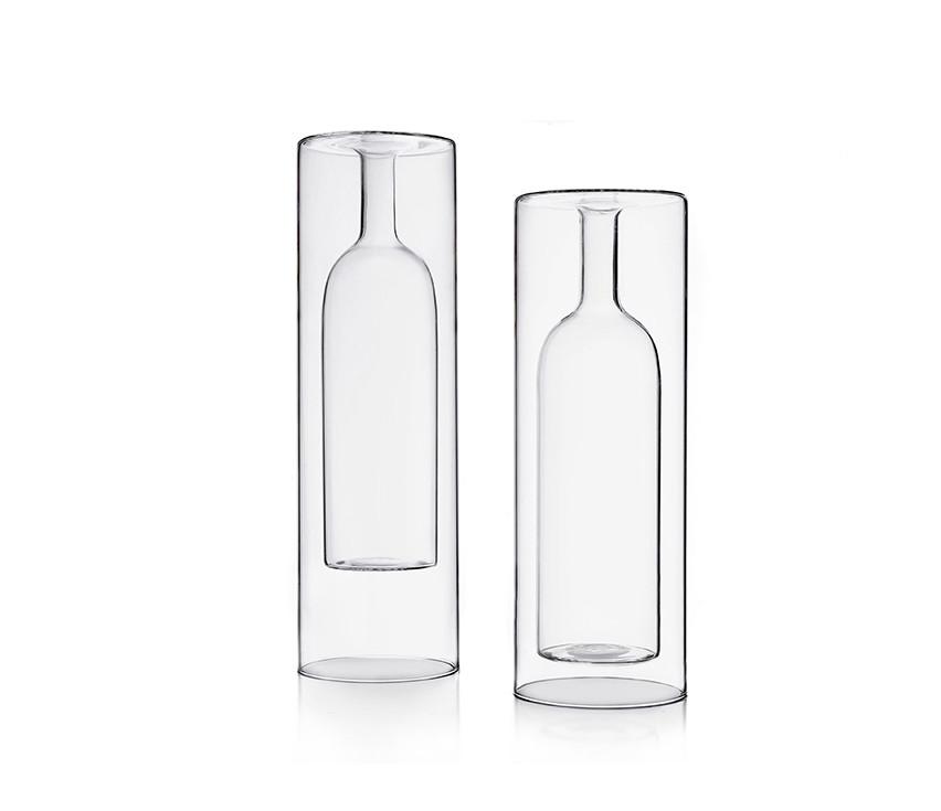 Double wall borosilicate glass vases