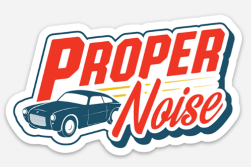 Proper Noise Vinyl Sticker - Classic