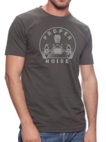 """Proper Noise """"Pagoda"""" T-Shirt, Gray/Gray"""