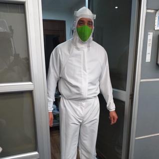 Overol antifluido Olimpia Bioprotección Antifluido Zantos Uniformes