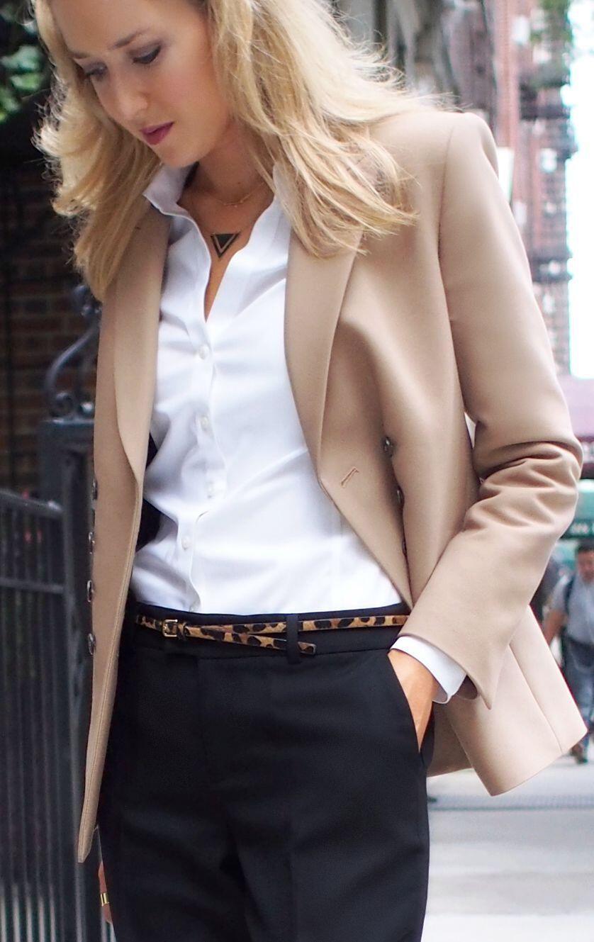 12 stylish beige blazer fall outfits you