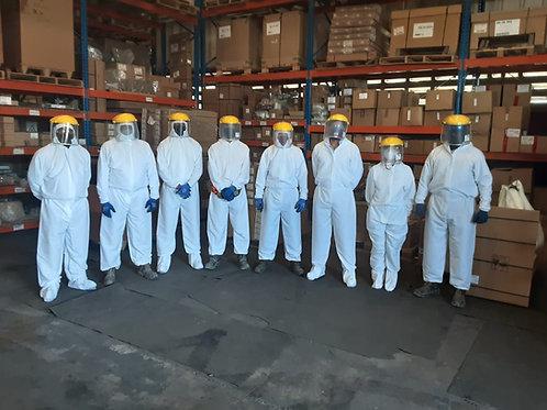 Overol 20 Lavadas Tela Antifluido Protección Covid-19