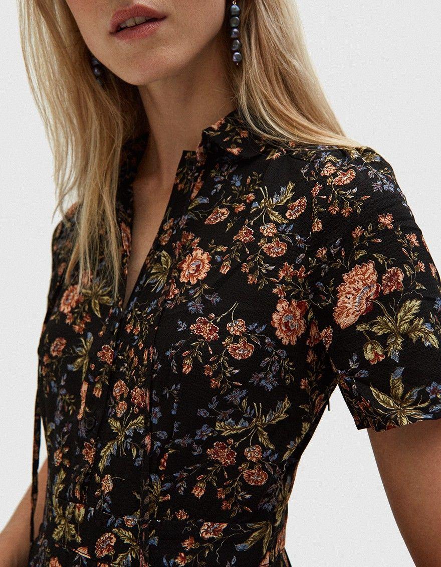 Farrow _ Lydia Floral Midi Dress