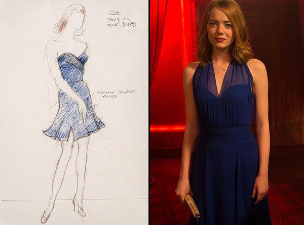 Vestido en Azul Saphire
