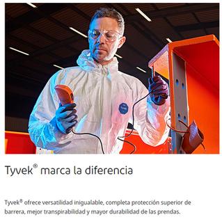 Traje Tyvek 1222A Antifluido Overol bioseguridad