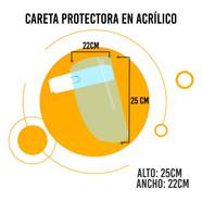Careta de Protección en Acrílico