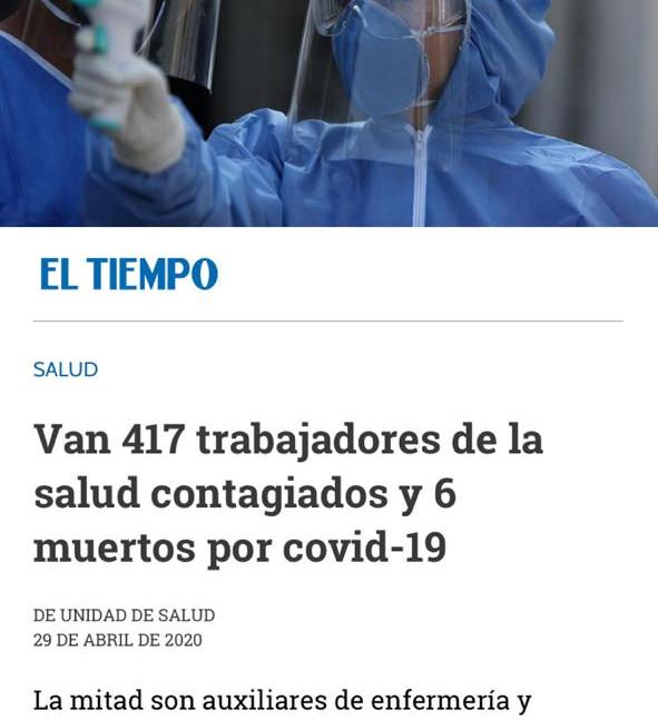 Médicos Contagiados Covid-19 en Colombia