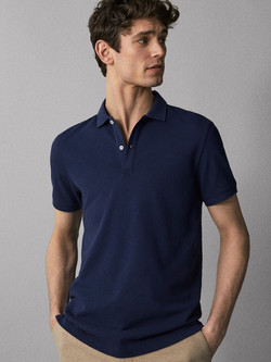 camisa polo azul rey