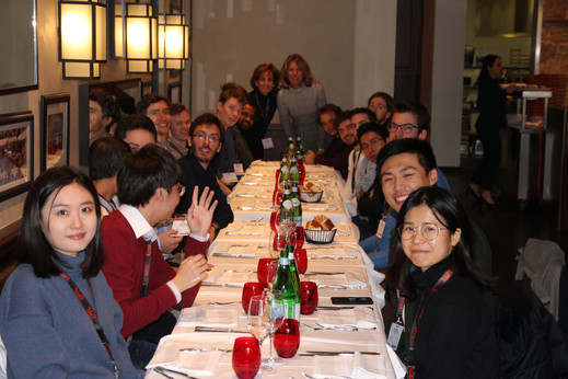 Dinner with Early Stage Researchers, speakers and the workshop organisers.  CMEP workshop, EPFL, Lausanne, Switzerland, 9-12 February 2020.