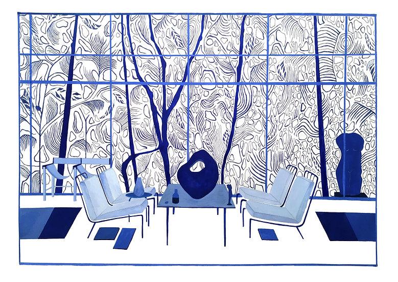 Glass House Giclêe Print