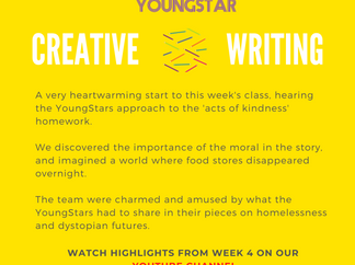 CREATIVE WRITING - Week 4 - 6 - 10 years