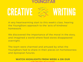 CREATIVE WRITING - Week 4 - 6 - 10 years