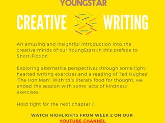 CREATIVE WRITING - Week 2 - 7-11 years