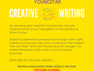 CREATIVE WRITING - Week 2 - 7-11 years