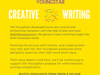 CREATIVE WRITING - Week 6 - 6-10 years