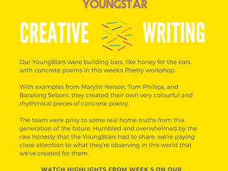 CREATIVE WRITING - Week 5 - 11-16 years