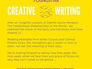 CREATIVE WRITING - Week 4 - 11- 16 years