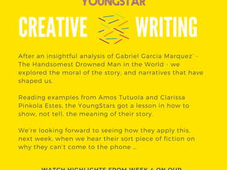 CREATIVE WRITING - Week 4 - 11- 16 years