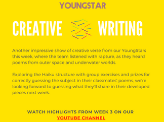 CREATIVE WRITING - Week 3 - 6-10 years