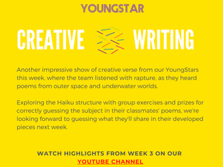 CREATIVE WRITING - Week 3 - 6-10 years